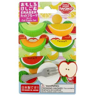 IWAKO Набор ластиков Cut Fruits